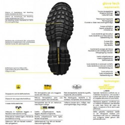 Gant en latex. Support polyester. 688-EGRIP