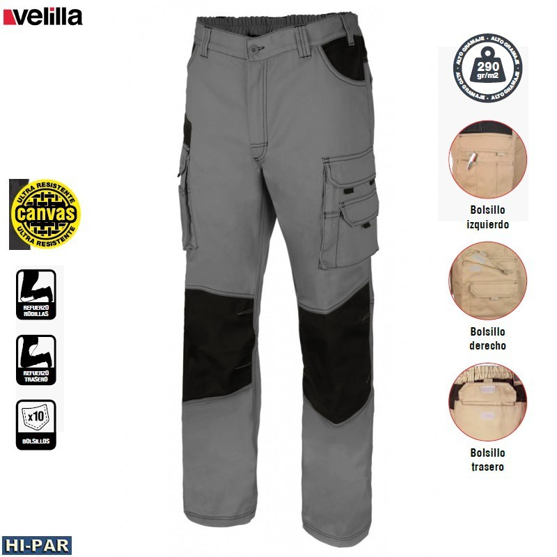 Working trousers. Resistant fabric. 588-PGN