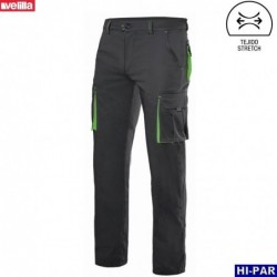 Pantalon canvas bicolor multibolsillos Serie 103011B